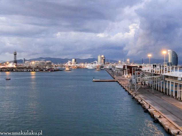 Wybrzeże Barcelony widziane z portu