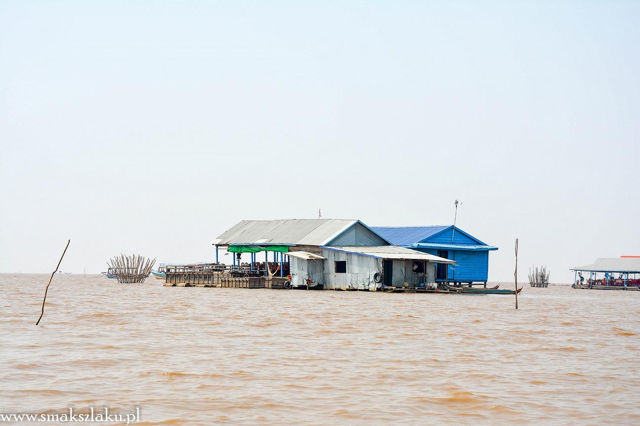 Kambodża, Tonle Sap, domy na palach